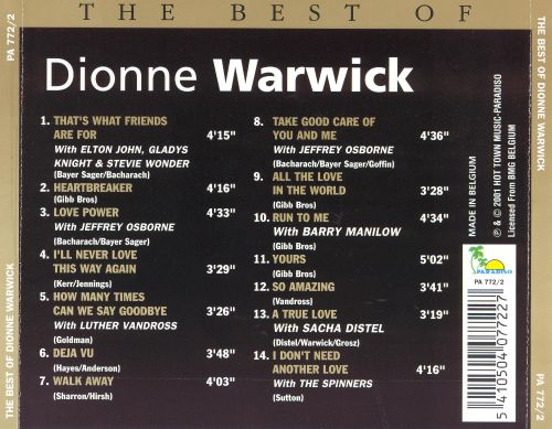The Best of Dionne Warwick [Paradiso]