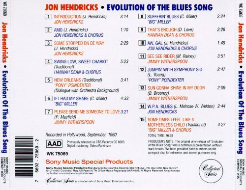 Evolution of the Blues Song