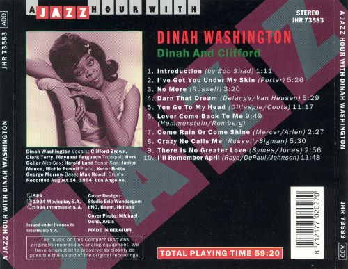 Jazz Hour with Dinah Washington: Dinah and Clifford