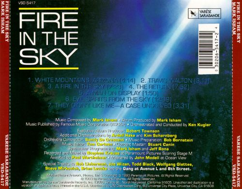 Fire in the Sky [Original Motion Picture Soundtrack]