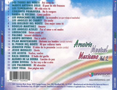 Arcoiris Musical Mexicano, Vol. 2