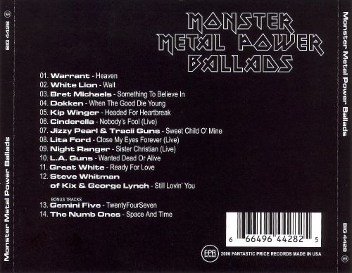 Monster Metal Power Ballads - Various Artists | Songs, Reviews ...