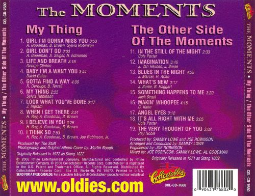 My Thing/The Other Side of the Moments