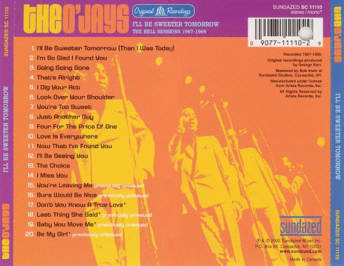I'll Be Sweeter Tomorrow: The Bell Sessions, 1967-1969