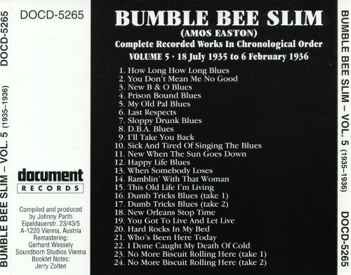 Complete Recorded Works, Vol. 5: (1935-1936)