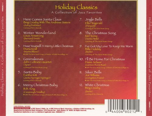 Holiday Classics: Collection of Jazz [Barnes & Noble]