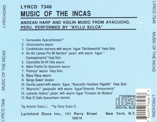 Music of the Incas: Andean Harp & Violin Music from Ayacucho