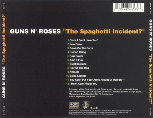 the spaghetti incident guns n roses songs reviews