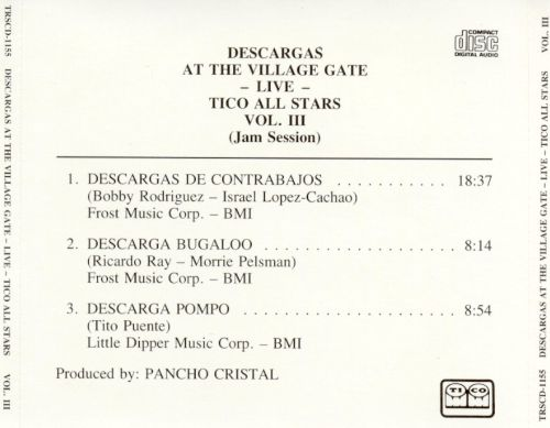 Descargas Live at the Village Gate, Vol. 3