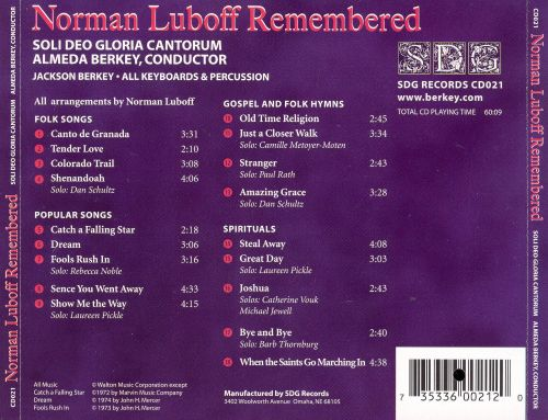 Norman Luboff Remembered