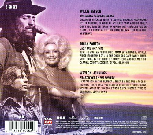 Willie Nelson, Dolly Parton & Waylon Jennings