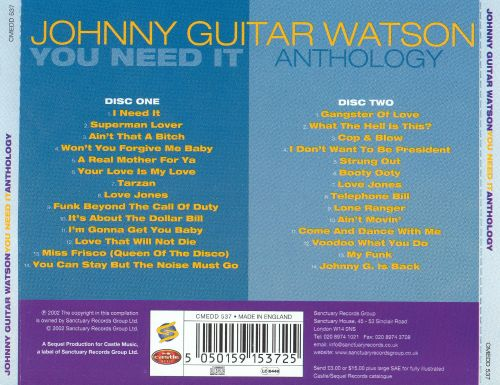 You Need It: Anthology