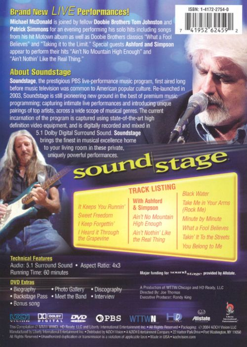 Soundstage: Michael McDonald Live in Concert