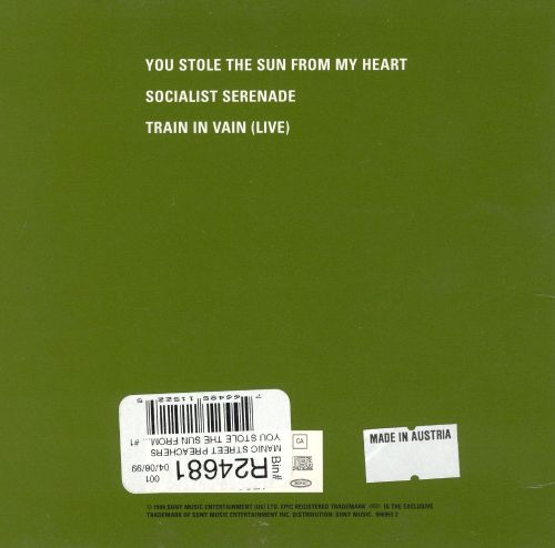 You Stole the Sun from My Heart [CD Single]
