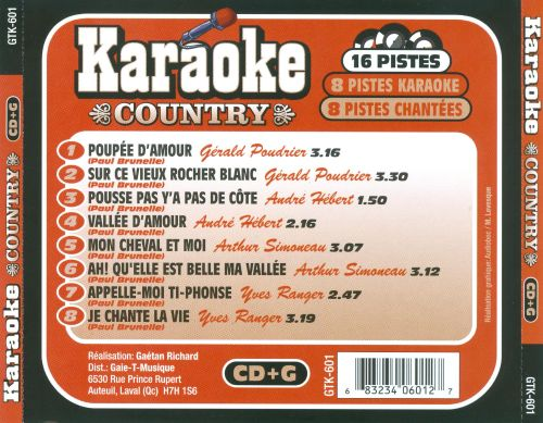 Karaoke Country: Les Grands Succès de Paul Brunelle