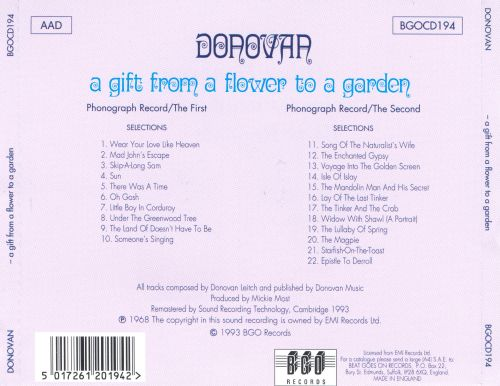 A gift from a flower to a garden donovan songs - Donovan a gift from a flower to a garden ...