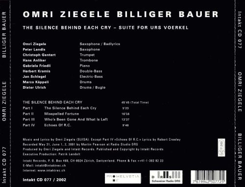 The Silence Behind Each Cry: Suite for Urs Voerkel
