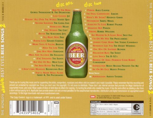World's Best Ever Beer Songs 2004
