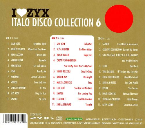 I Love ZYX: Italo Disco Collection 6