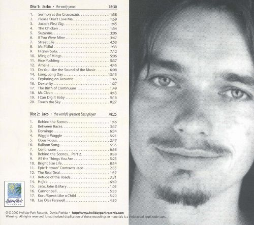 Portrait of Jaco: The Early Years, 1968-1978