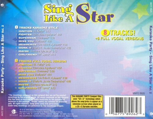 Karaoke Party! Sing Like a Star, Vol. 2