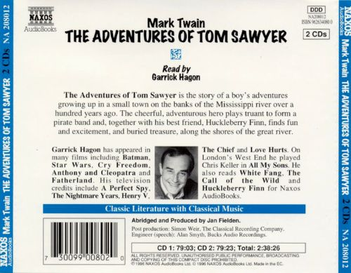 Adventures of Tom Sawyer [Naxos]