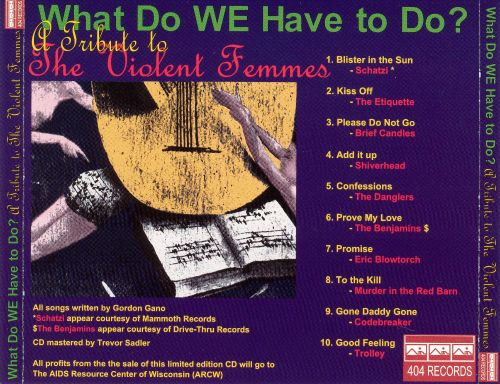What Do We Have to Do? a Tribute to the Violent Femmes