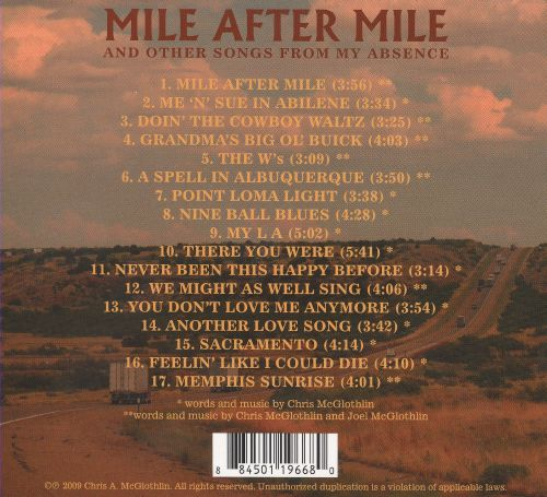 Mile After Mile and Other Songs from My Absence