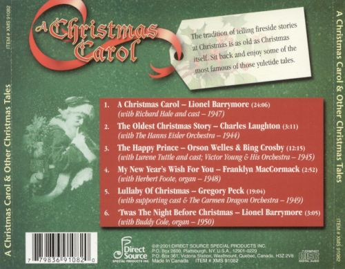 A Christmas Carol & Other Christmas Tales - Various Artists ...