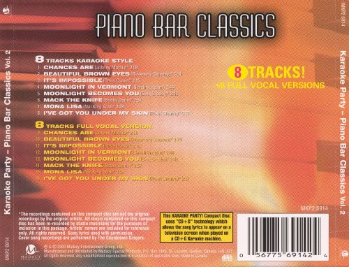 Karaoke Party! Piano Bar Classics, Vol. 2