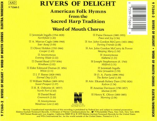 Rivers of Delight (American Folk Hymns from the Sacred Harp Tradition)