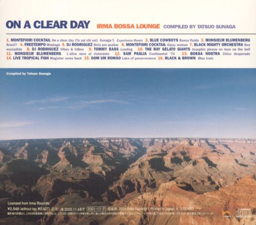 On a Clear Day: Irma Bossa Lounge
