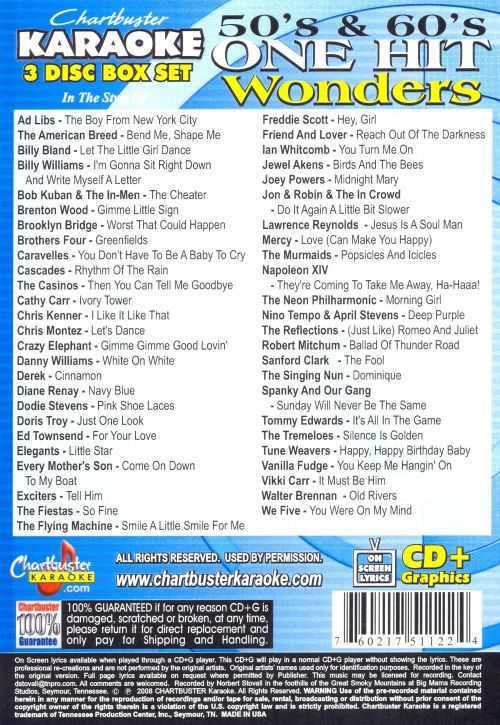 Karaoke: 50's and 60's One Hit Wonders [3 Discs]