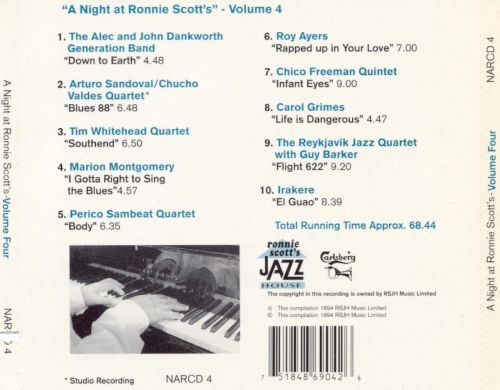 A Night at Ronnie's, Vol. 4