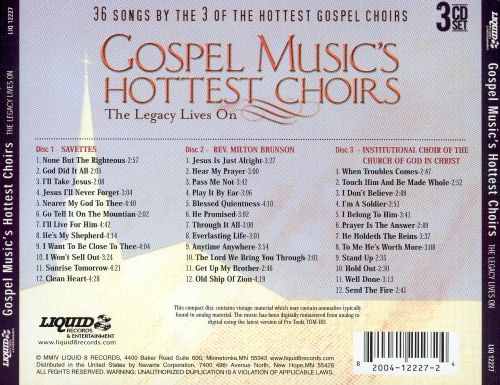 Gospel Music's Hottest Choirs: The Legacy Lives On