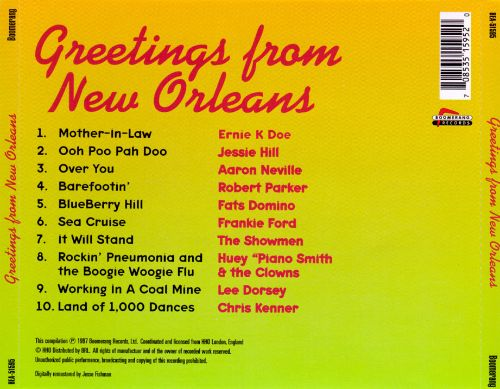 Greetings from new orleans various artists songs reviews greetings from new orleans various artists songs reviews credits allmusic m4hsunfo