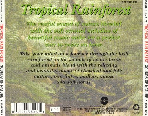 Tropical Rain Forest: Sounds Of Nature
