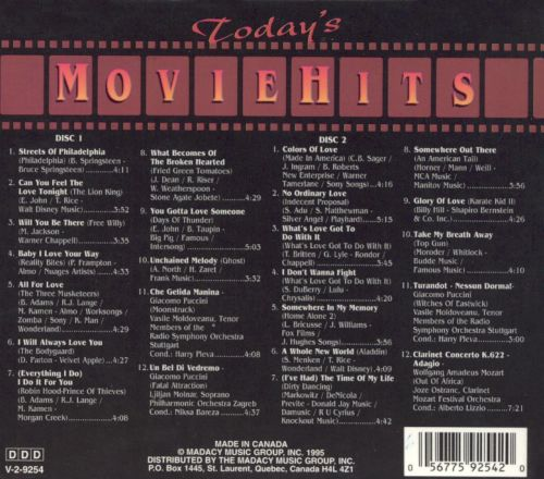 Today's Movie Hits [1996]