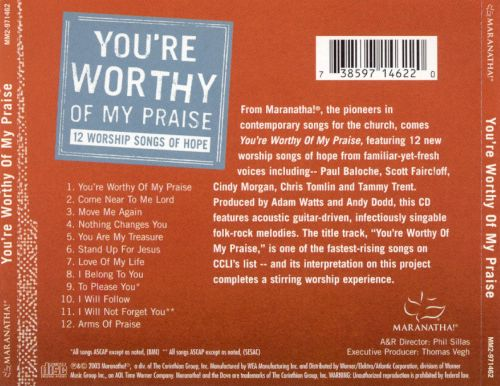 You're Worthy of My Praise: 12 Worship Songs