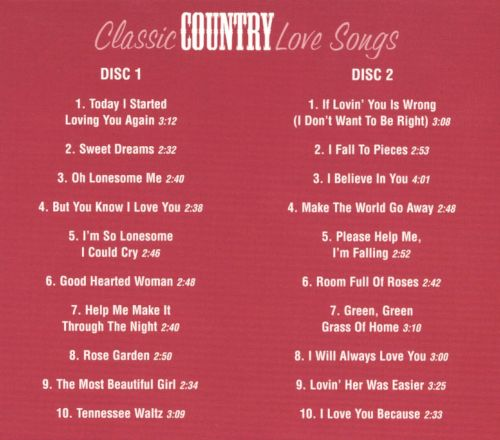 Classic Country Love Songs - The Countdown Singers