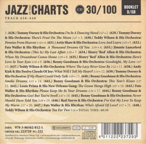 Jazz in the Charts, Vol. 30: Goodnight, My Love 1937