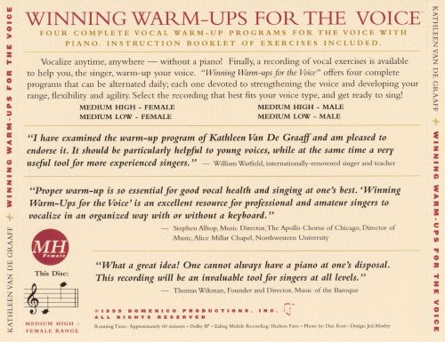Winning Warm-Ups for the Voice (Medium Low-Female)