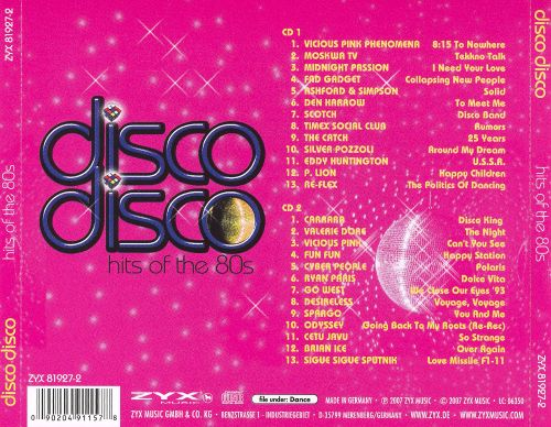 Disco Disco: Hits of the 80's [2007]