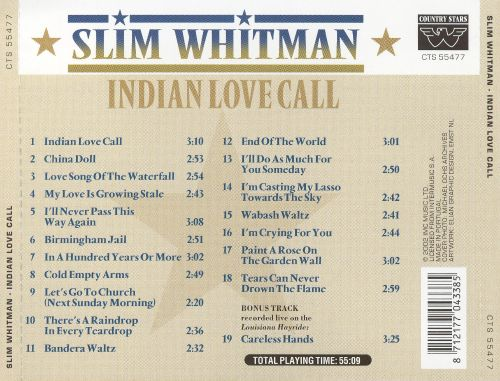 Indian Love Call [Country Stars]