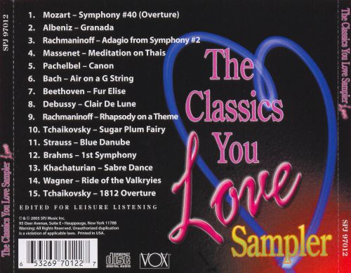 The Classics You Love Sampler