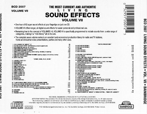 Living Sound Effects, Vol. 7