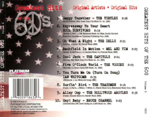 Greatest Hits of the 60's, Vol. 6