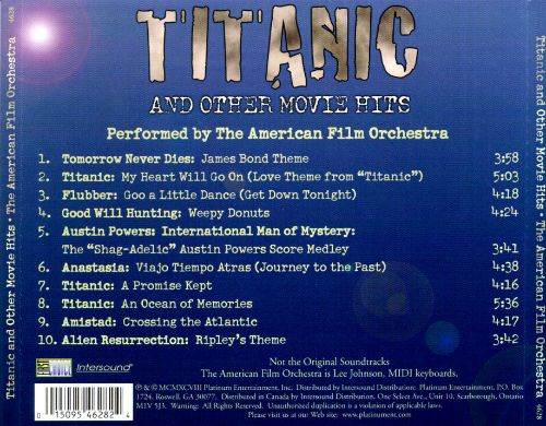 Titanic & Other Movie Hits