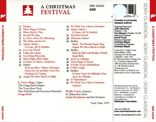 A Christmas Festival [Sony] - Various Artists | Songs, Reviews ...