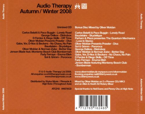 Audio Therapy: Autumn/Winter 2008